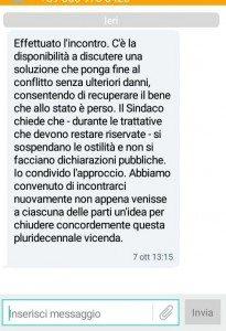 Menallo sms 7 ottobre 2016