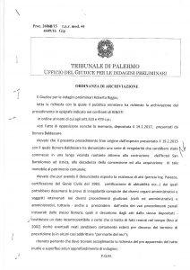 Archiviazione-Gip-Roberto Riggio-Tribunale di Palermo