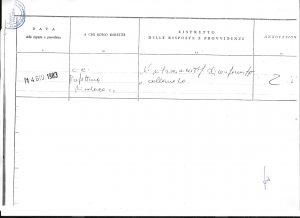 Genio Civile - Hotel San Bartolomeo - Conformita' e Collaudo statico - Trasmissione al Comune di Ustica e alla Prefettura di Palermo 14 giugno 1983