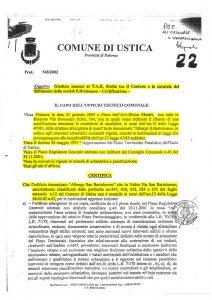 Certificato dell'UTC di Ustica